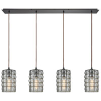 Murieta 4 Light 46 inch Oil Rubbed Bronze Linear Pendant Ceiling Light