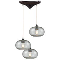 Volace 3 Light 10 inch Oil Rubbed Bronze Pendant Ceiling Light