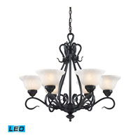 ELK Lighting Buckingham 6 Light Chandelier in Matte Black 256-BK-LED