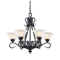 ELK Lighting Buckingham 6 Light Chandelier in Matte Black 256-BK