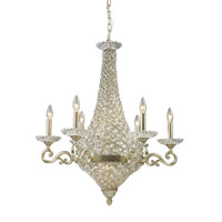 ELK Lighting Trump Home Mar-A-Lago Bianco 10 Light Chandelier in Silver Leaf 2579/6+4