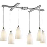 ELK Lighting Vesta 6 Light Pendant in Satin Nickel 2580/6