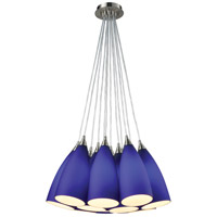 Vesta 12 Light 20 inch Satin Nickel Pendant Ceiling Light in Incandescent, Round Canopy