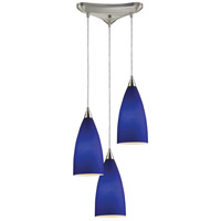 Vesta 3 Light 10 inch Satin Nickel Pendant Ceiling Light