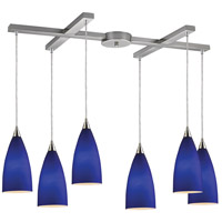 ELK Lighting Vesta 6 Light Pendant in Satin Nickel 2581/6