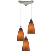 ELK Lighting Vesta 3 Light Pendant in Satin Nickel 2582/3
