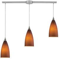 Vesta 3 Light 36 inch Satin Nickel Linear Pendant Ceiling Light in Incandescent, Linear with Recessed Adapter