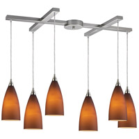 Vesta 6 Light 33 inch Satin Nickel Pendant Ceiling Light