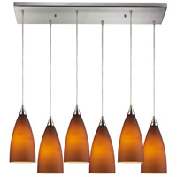 ELK Lighting Vesta 6 Light Pendant in Satin Nickel 2582/6RC