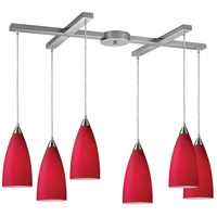 ELK Lighting Vesta 6 Light Pendant in Satin Nickel 2583/6