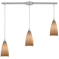 ELK 2584/3L Vesta 3 Light 38 inch Satin Nickel Mini Pendant Ceiling Light in Linear with Recessed Adapter, Linear