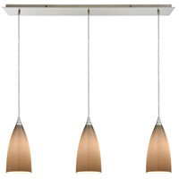 ELK 2584/3LP Vesta 3 Light 36 inch Satin Nickel Linear Pendant Ceiling Light photo thumbnail