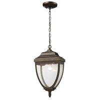 ELK Lighting Brantley Place 1 Light Outdoor Pendant in Hazelnut Bronze 27012/1