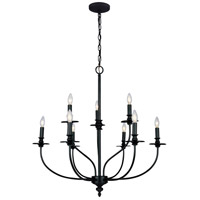 Hartford 9 Light 29 inch Oil Rubbed Chandelier Ceiling Light