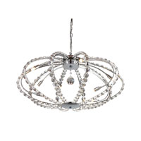 ELK Lighting Elliptical 10 Light Chandelier in Plated Chrome 30013/10