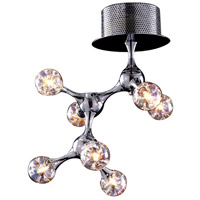 Molecular 7 Light 11 inch Polished Chrome Semi-Flush Mount Ceiling Light in Standard