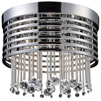 Rados 5 Light 13 inch Polished Chrome Flush Mount Ceiling Light