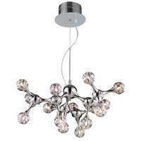 Molecular 15 Light 25 inch Polished Chrome Chandelier Ceiling Light