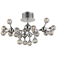 Molecular 18 Light 26 inch Polished Chrome Semi-Flush Mount Ceiling Light