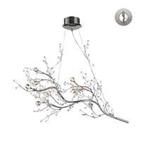 ELK 30032/10-LA Viviana 10 Light 40 inch Polished Chrome Chandelier Ceiling Light in Recessed Adapter Kit