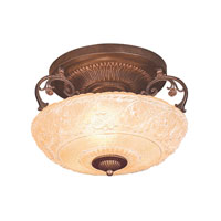 ELK Lighting Restoration 3 Light Semi-Flush Mount in Golden Bronze 305-GB
