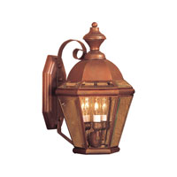 ELK Lighting Newington 3 Light Outdoor Sconce in Aged Copper 3091-AC