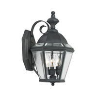 Newington 3 Light 16 inch Charcoal Outdoor Sconce