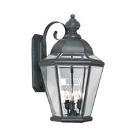 Newington 3 Light 22 inch Charcoal Outdoor Sconce