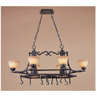 Ferro 8 Light 43 inch Round Forged Iron Chandelier Ceiling Light