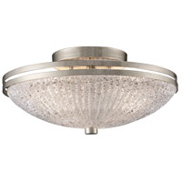 ELK Lighting Trump Home Central Park New York 3 Light Semi Flush in Renaissance Silver 31007/3