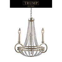 ELK Lighting New York 3 Light Chandelier in Renaissance Silver 31013/3