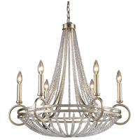 ELK Lighting New York 6 Light Chandelier in Renaissance Silver 31014/6