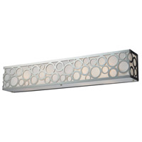 Retrovia 4 Light 28 inch Polished Nickel Vanity Wall Light