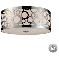 Retrovia 3 Light 16 inch Polished Nickel Flush Mount Ceiling Light in Incandescent, Recessed Adapter Kit