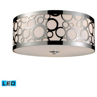 Retrovia LED 16 inch Polished Nickel Flush Mount Ceiling Light in Standard