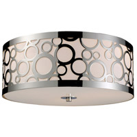 Retrovia 3 Light 16 inch Polished Nickel Flush Mount Ceiling Light in Incandescent, Standard