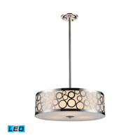 Retrovia LED 20 inch Polished Nickel Chandelier Ceiling Light