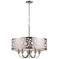 Retrovia 5 Light 24 inch Polished Nickel Chandelier Ceiling Light