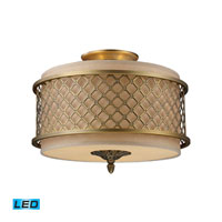 ELK Lighting Chester 3 Light Semi-Flush Mount in Brushed Antique Brass 31031/3-LED