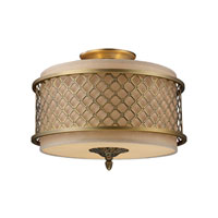 ELK Lighting Chester 3 Light Semi-Flush Mount in Brushed Antique Brass 31031/3