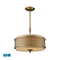 Chester LED 21 inch Brushed Antique Brass Pendant Ceiling Light