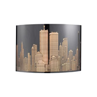ELK 31035/1 Skyline 1 Light 11 inch Polished Stainless Steel Sconce Wall Light photo thumbnail