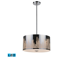 ELK Lighting Skyline 3 Light Pendant in Polished Stainless Steel 31038/3-LED
