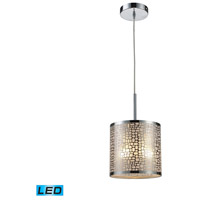 ELK Lighting Medina 1 Light Pendant in Polished Stainless Steel 31041/1-LED
