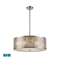 ELK Lighting Medina 5 Light Pendant in Polished Stainless Steel 31043/5-LED