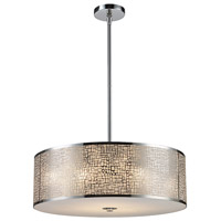 ELK Lighting Medina 5 Light Pendant in Polished Stainless Steel 31043/5