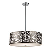 ELK Lighting Tronic 5 Light Pendant in Polished Stainless Steel 31054/5