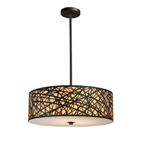 ELK Lighting Tronic 5 Light Pendant in Aged Bronze 31064/5 photo thumbnail
