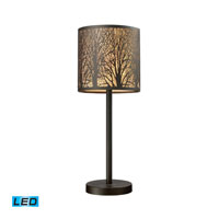 ELK Lighting Woodland Sunrise 1 Light Table Lamp in Aged Bronze 31072/1-LED