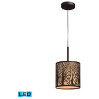 Woodland Sunrise LED 8 inch Aged Bronze Pendant Ceiling Light